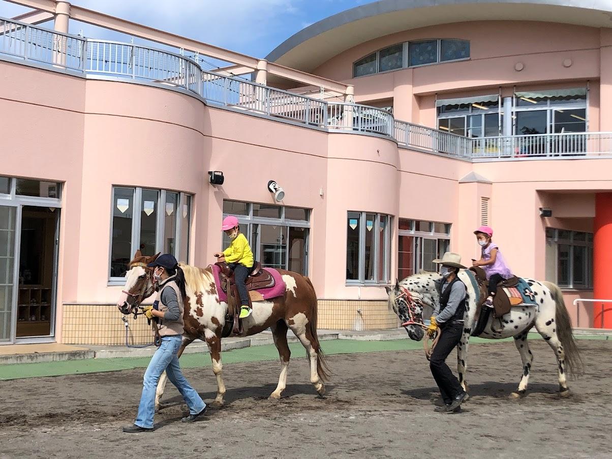 乗馬体験(年中) 2